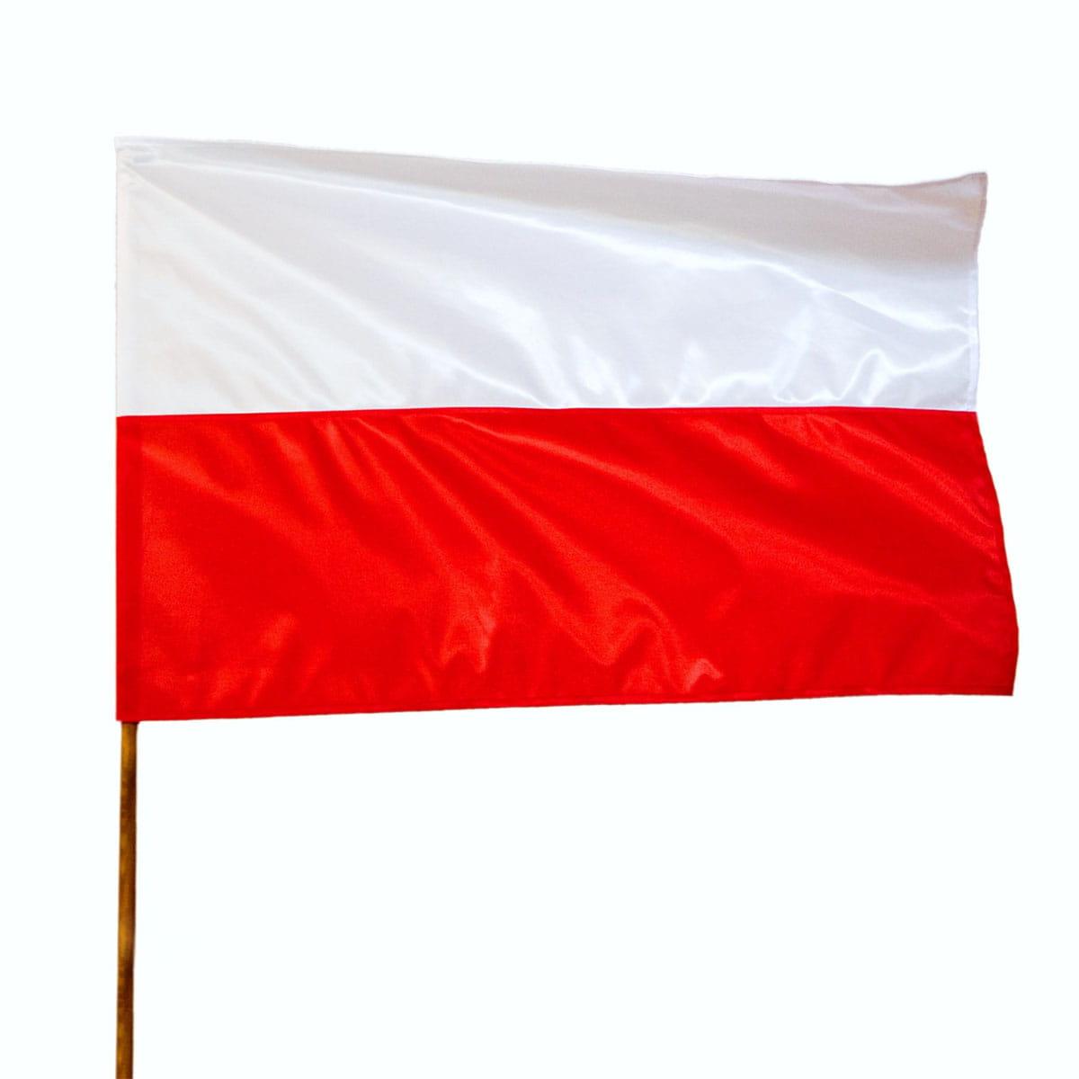 Flaga Polski 70x112 cm zszywana - iFlagi